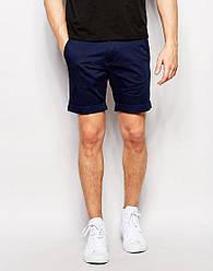 Чоловічі стильні шорти чінос кольору нави