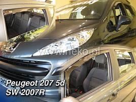 Дефлекторы окон (ветровики)  Peugeot 207 2007-> 5D Combi 4шт (Heko)