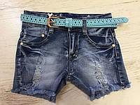 Джинсовые шорты на девочку оптом, Nice Wear , 134-164 рр