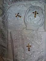 Крестильный набор из 3-х предметов  Ангел,  молочный