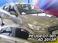 Дефлекторы окон (ветровики)  Peugeot 301 2013R.->/Citroen  C-Elisee 2012 ->4D 4шт (Heko)