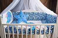 """Комплект в кроватку """"Little explorer"""" синий"""
