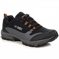 Черно pomarańczonwe спортивные мужские ботинки треккинг Wishot