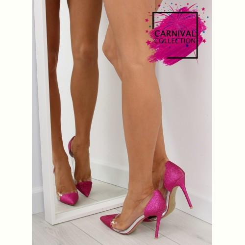 Туфли с блестками фуксия 5133 FUSHIA