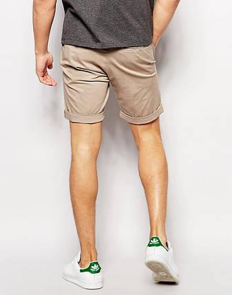 Молодежные мужские шорты чинос бежевые, фото 2