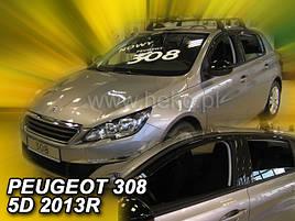 Дефлекторы окон (ветровики)  Peugeot 308 2014-> 5D 4шт (Heko)