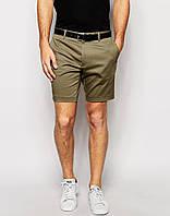 Мужские модные шорты чинос олива
