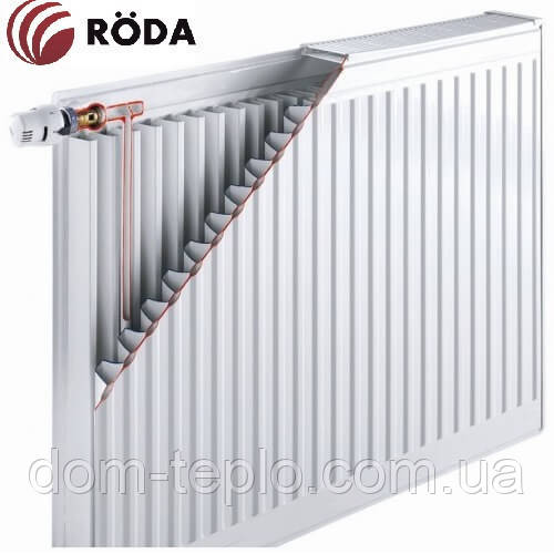 Радиатор стальной Roda RSR 500х1600 ➔ 11 ТИП ➔ боковое подсоединение