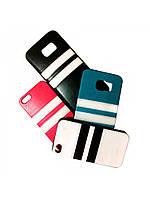 Kожаный чехол double color для Apple iPhone 4/4S черный, фото 1