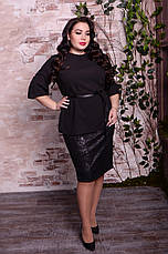 Черная блузка больших размеров Парадиз, фото 3