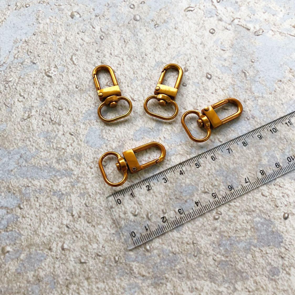 Карабин для сумки, цвет - розовое золото, 16 мм