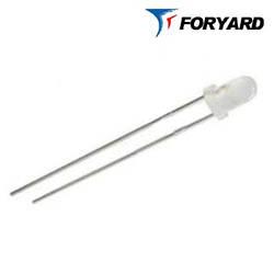 Світлодіод холодно-білий 3 мм. FYL-3014 UWC 6-8cd (круглий, прозорий), 30 ° FORYARD