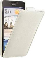 Чехол-флип Avatti для Huawei Y600D Slim Flip белый