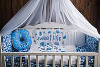 """Комплект в кроватку """"Sweet life"""" cиний"""