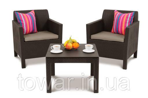Садовая мебель ORLANDO балконный коричневый