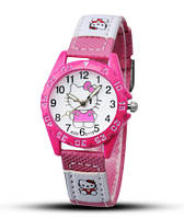 Детские наручные часы Hello Kitty (ярко-розовые)