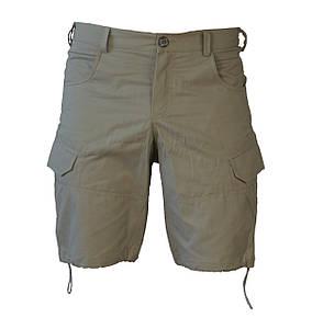 Мужские функциональные шорты с карманами карго бежевые, фото 2