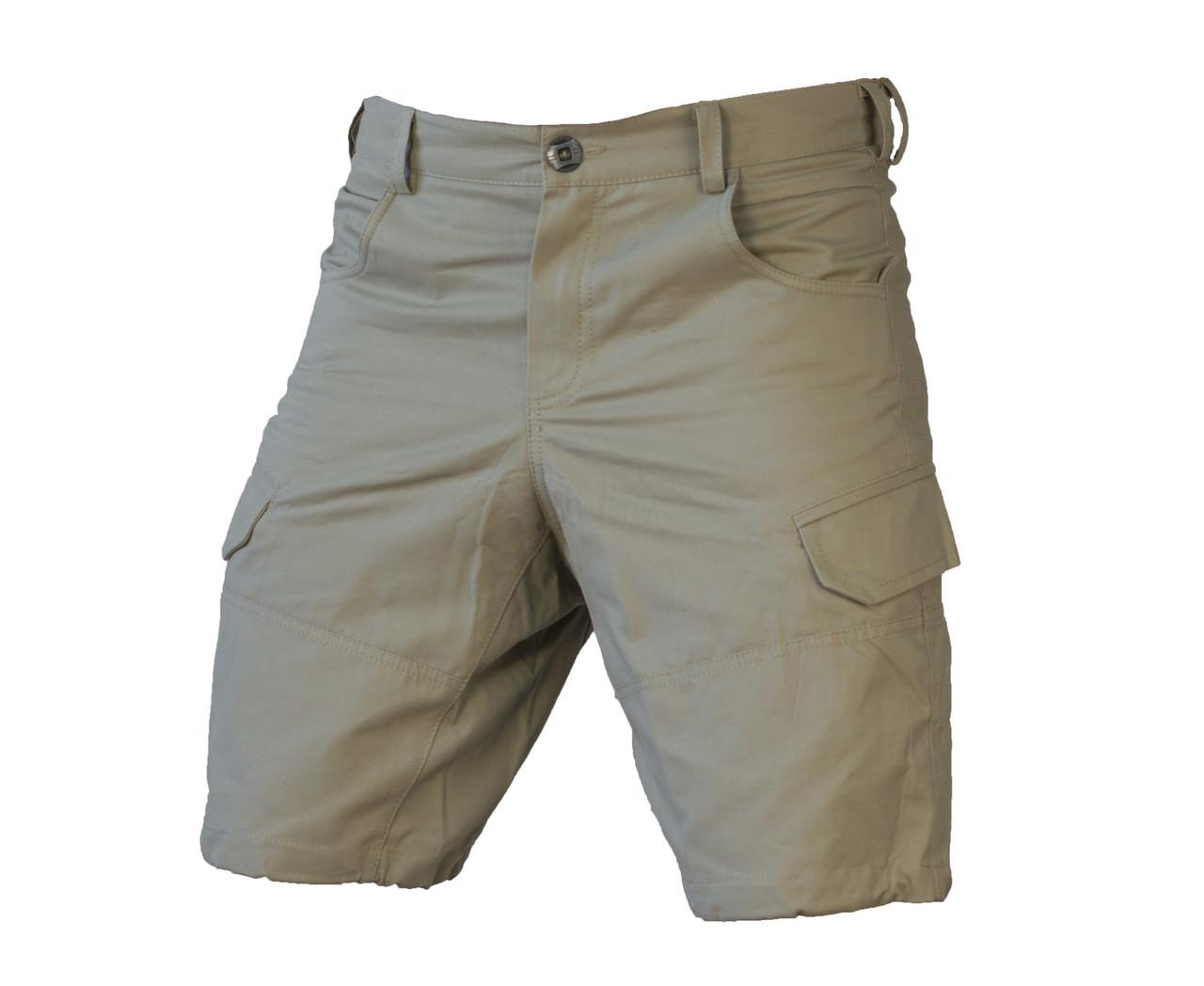Мужские функциональные шорты с карманами карго бежевые