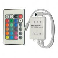 600W-IR-24. RGB контроллер для ленты 220В с ИК пультом д/у.
