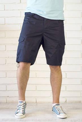 Мужские шорты с карманами карго и утяжкой нави, фото 2