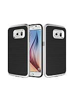 Чехол Motomo slim line для Samsung Galaxy S6 Edge Plus серебряный