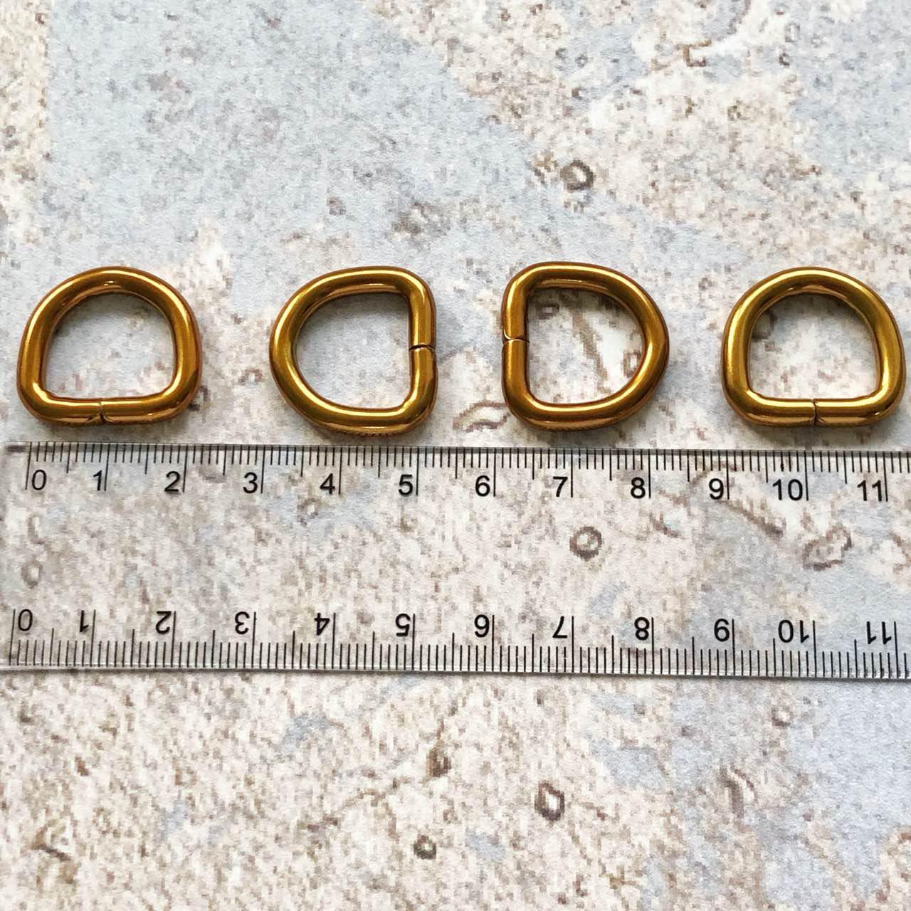 Полукольцо соединительное, розовое золото, размер 15 х 15 мм