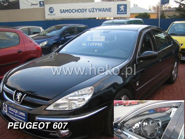 Дефлекторы окон (ветровики)  Peugeot 607 1999-2010 Sedan 2шт (Heko)