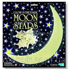 Місяць і зірки, що світяться в темряві, арт. 5215, 4М