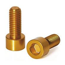 Болты крепления подфляжника XLC BC-X02, золотистые, 2шт