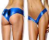 Трусики голубые металлик