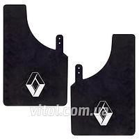 Брызговики  для автомобиля Renault 57288 черный, большой, в упаковке 2 шт, автоаксессуары для Renault, брызговики для Renault, комплект брызговиков