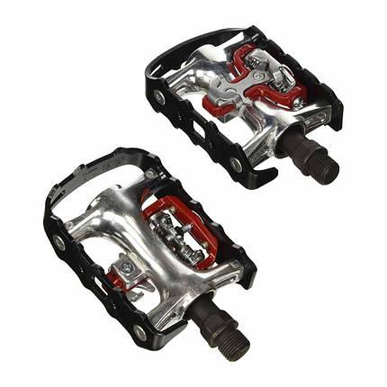 Педали контактные XLC PD-S01, 465 гр, черные, MTB, фото 2
