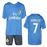 Синяя футбольная форма Рональдо Размеры: от 7 до 14 лет