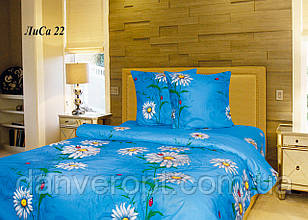 Постільна білизна двоспальне принт Ромашка ,розмір 175*215, купити оптом зі складу 7км Одеса
