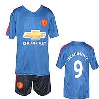 Синяя футбольная форма для мальчика Размеры: от 7 до 14 лет