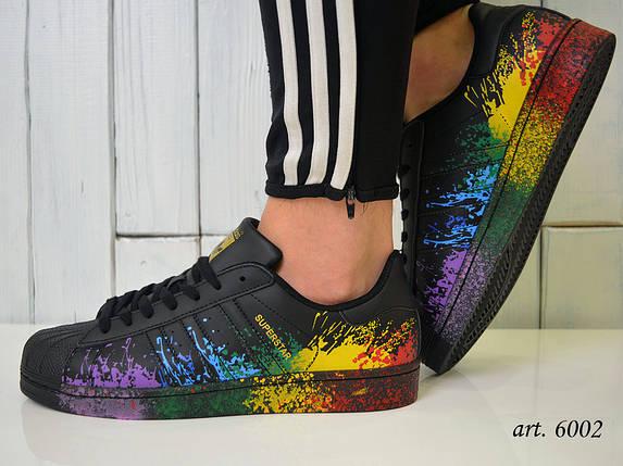 a1cdcd05 Кроссовки Adidas Superstar Rainbow Paint Splatter - Топ качество ААА+ /  Адидас Суперстар Черные ,