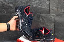 Кросівки чоловічі Nike air max TN,сітка,темно сині з червоним, фото 3