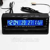 Термометр внутренний, наружный, часы, подсветка VST 7010V, Часы для авто, Часы автомобильные, Автомобильный термометр, Электронные часы