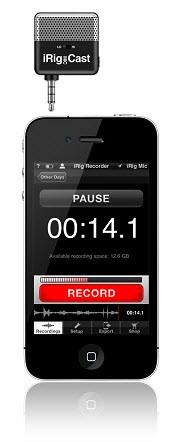 Ультракомпактный микрофон для записи голоса с помощью iPhone IK MULTIMEDIA iRIG MIC CAST