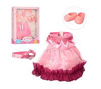Одежда для куклы M 3841 нарядное платье (2 вида)