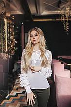 Женская рубашка, шёлк армани + люрексовая сетка, р-р 42; 44; 46; 48 (серый)