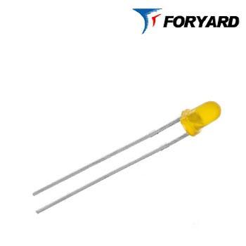 Світлодіод Помаранчевий 3 мм. FYL-3014 ED-E 585nm, 15mcd (круглий, матовий), 60 ° FORYARD