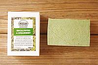 Уценка - оливковое мыло ручной работы Эвкалипт & Мята (The Natural Workshop), 145g., Греция