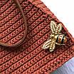 """Украшение для сумки """"Пчелка"""", цвет розовое золото, фото 2"""