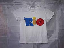 Летняя футболка детская с крупным рисунком, 92-116 см, фото 3