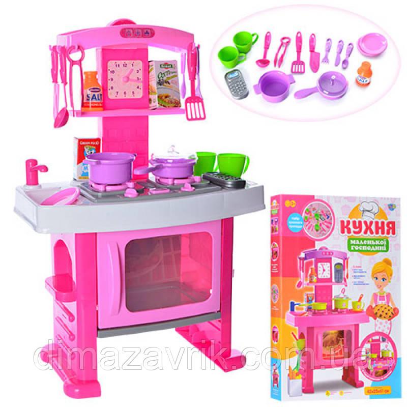 Кухня 661-51 46,5-25-78 см, плита, духовка, посуда,  часы, телефон, звук, свет, на бат-ке, в кор45-63-8 см