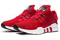 Кроссовки Adidas Equipment, красные с белым - Топ качество ААА+, Реальные фото - Адидас Эквипмент