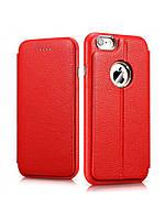 Чехол Icarer Transformers Litchi Pattern Leather Series для iPhone 6/6S красный, фото 1
