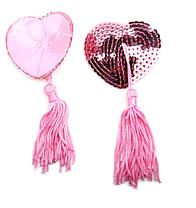 Стикини с пайетками розовые, фото 3