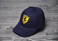 Кепка, бейсболка  топ качества , Ferrari, (темно-синий), Реплика